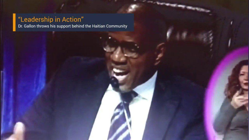 Dr. Steve Gallon III Supports The Haitian Community