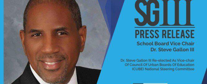 Dr. Steve Gallon III Vice Chair of CUBE