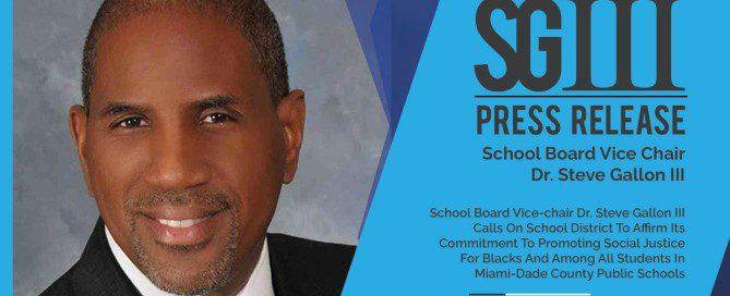 Dr. Steve Gallon III Social Injustice Announcement