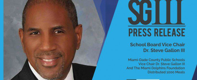 Dr. Steve Gallon Press Release Miami Dolphins Foundation