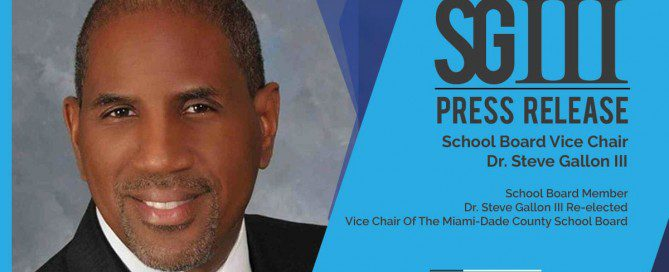 Dr. Steve Gallon III Re-Elected as Vice Chair of MDCPS