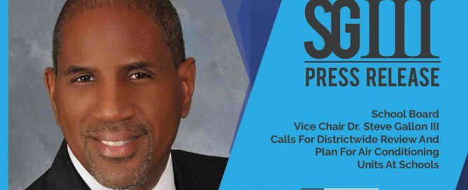 Dr. Steve Gallon III Proffers Budget for Air Conditioning Units