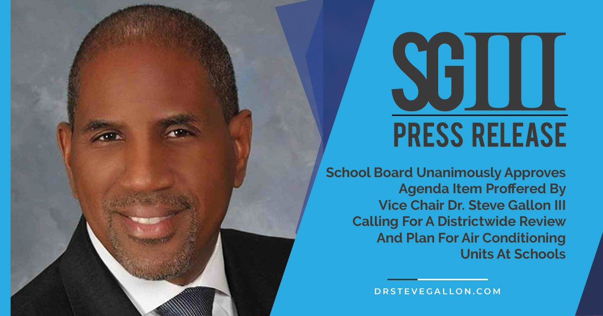 Vice Chair Dr. Steve Gallon III