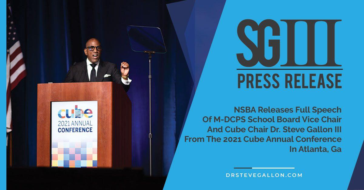 CUBE 2021 Speech
